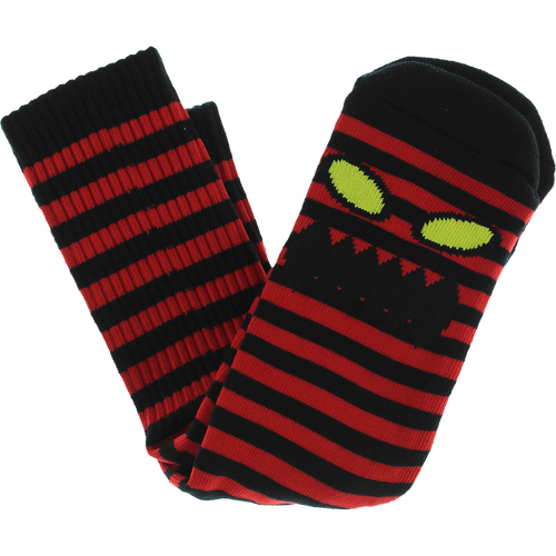 Toy Machine Monster Face Mini Stripe Sock - Red