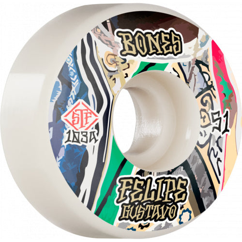 Bones Gustavo Bed-Stuy STF Wheels - 103A 53mm V1 Standard