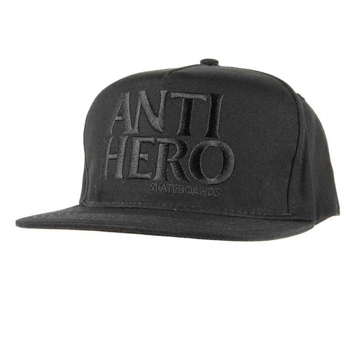 Anti Hero BlackHero Snapback - Black/Black