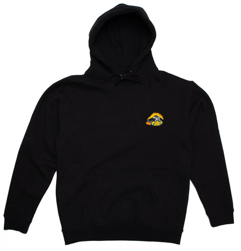 Ninetimes Embroidered Fast Car Hoodie - Black
