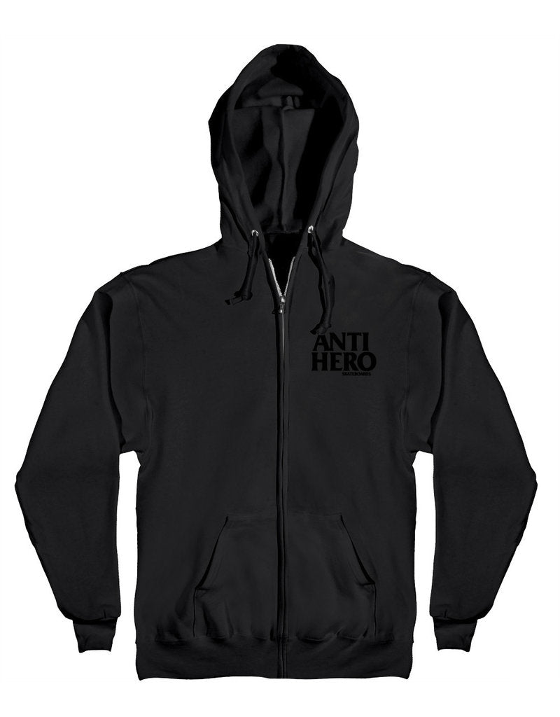 Anti Hero Lil' BlackHero Zip Hood - Black/Black
