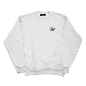 Bronze 56K Embroidered B Logo Crewneck - Ash