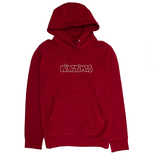 Ninetimes Embroidered Outline Hoodie - Burgundy