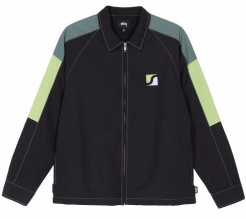 Stussy Panel Zip Jacket - Black
