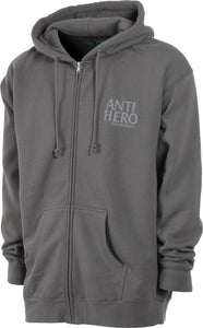 Antihero Lil Blackhero Embroidered Hood Charcoal