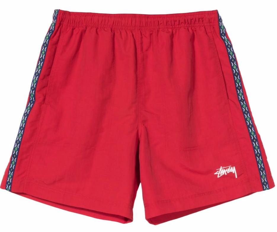 Stussy Nylon Taping Short - Red