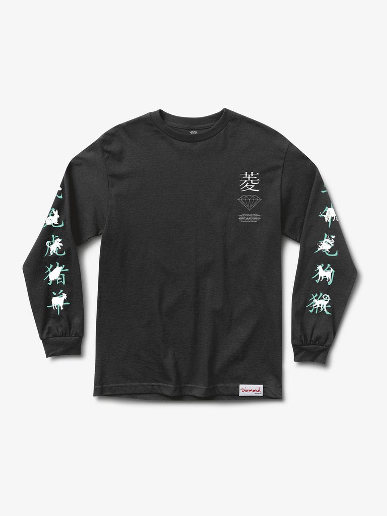 Diamond Chinese Zodiac Longsleeve - Black