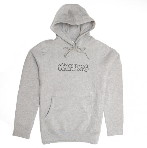 Ninetimes Embroidered Outline Hoodie - Athletic Grey