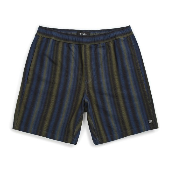 Brixton Steady Elastic Short - Navy/Green