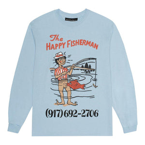 Call Me 917 Happy Fisherman Longsleeve - Light Blue