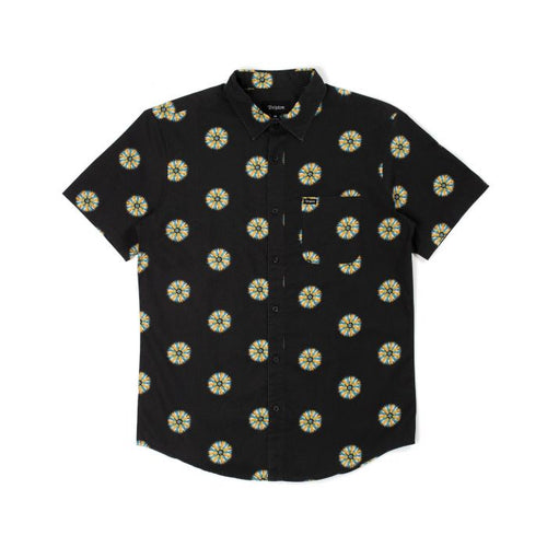 Brixton Charter Print Button Up - Black/Silver