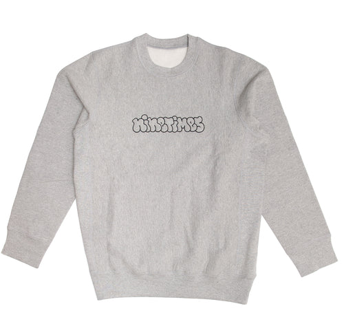 Ninetimes Embroidered Outline Crewneck - Athletic Grey