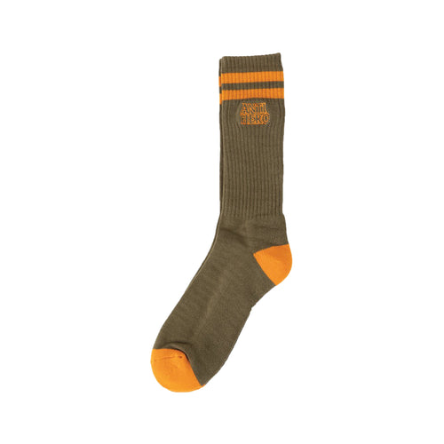 Antihero Blackhero Outline Sock Olive/Orange