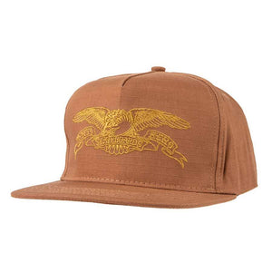 Antihero Basic Eagle Snapback - Brown/Gold
