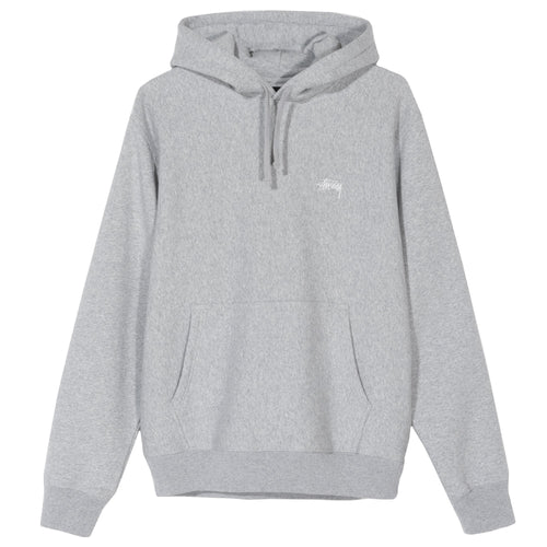 Stussy Stock Logo Hoodie - Grey Heather