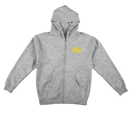 Antihero Reserve Zip-Up Hood - Grey/Yellow