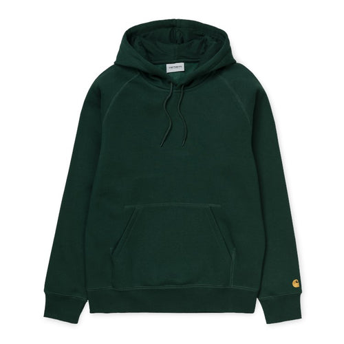 Carhartt WIP Chase Hoodie - Bottle Green/Gold