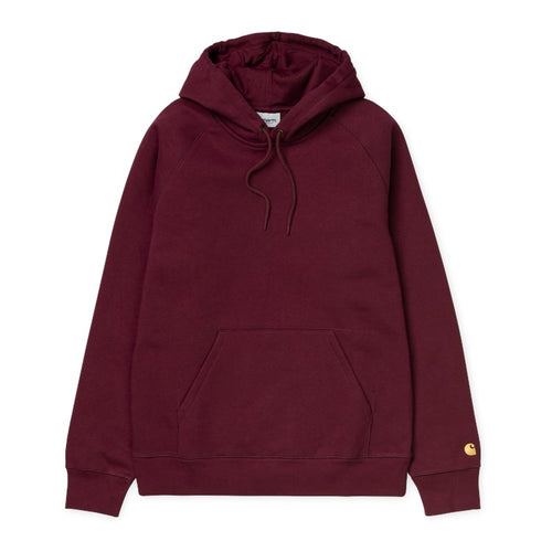 Carhartt WIP Chase Hoodie - Bordeaux/Gold