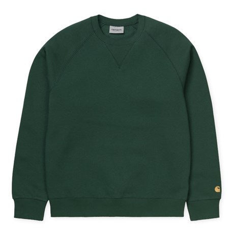Carhartt WIP Chase Crewneck - Treehouse/Gold
