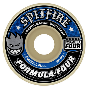 Spitfire Formula Four Conical Full Wheels - 99D 53mm Blue Print
