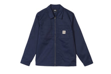 Load image into Gallery viewer, Stussy Poly Cotton Zip Up - Navy
