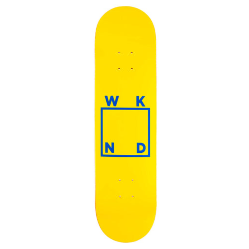 WKND Yellow/Blue Logo Deck - 8.5