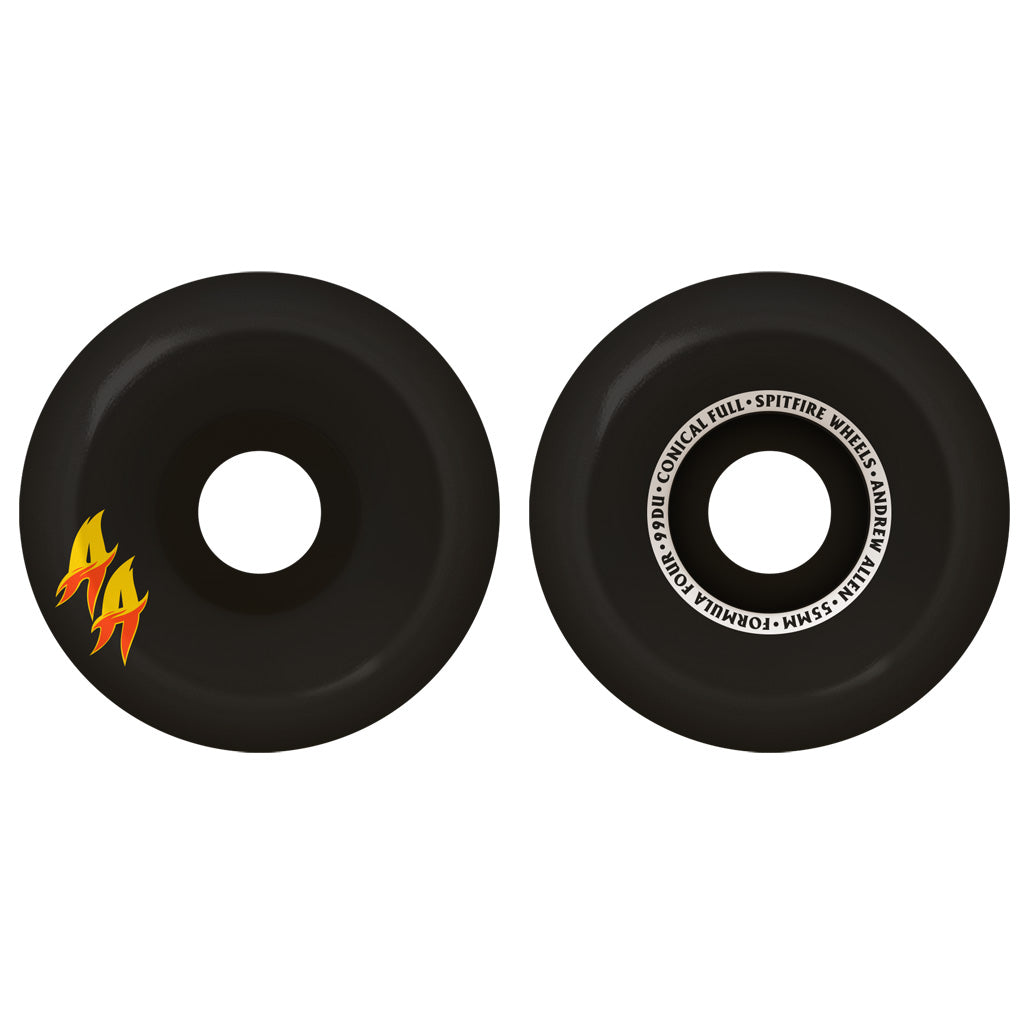 Spitfire Andrew Allen Formula Four Double A Conical Full Wheels - 99D 55mm Black