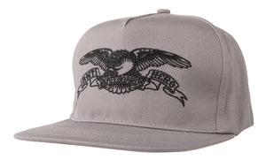 Antihero Basic Eagle Snapback - Grey/Black