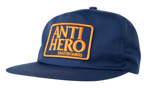Antihero Reserve Patch Snapback - Navy/Orange