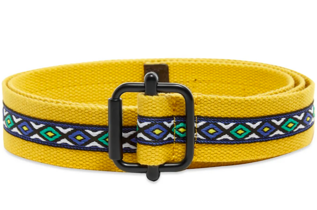 Stussy Woven Taped Web Belt - Mustard