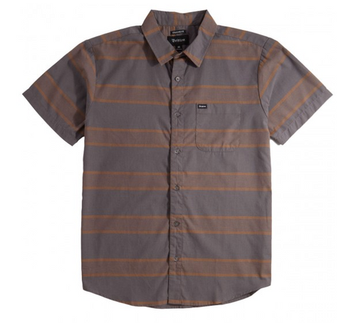 Brixton Charter Stripe Button Up - Charcoal/Copper