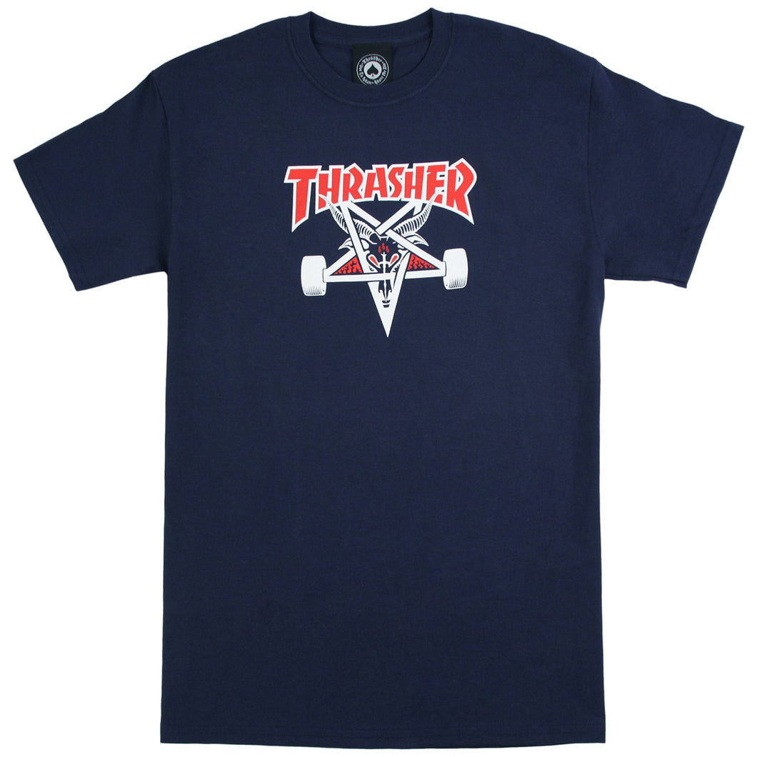 Thrasher Two Tone Skategoat Tee - Navy M