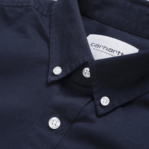 Carhartt WIP Madison Shirt - Dark Navy/White