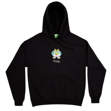 Frog The Cow Hoodie - Black