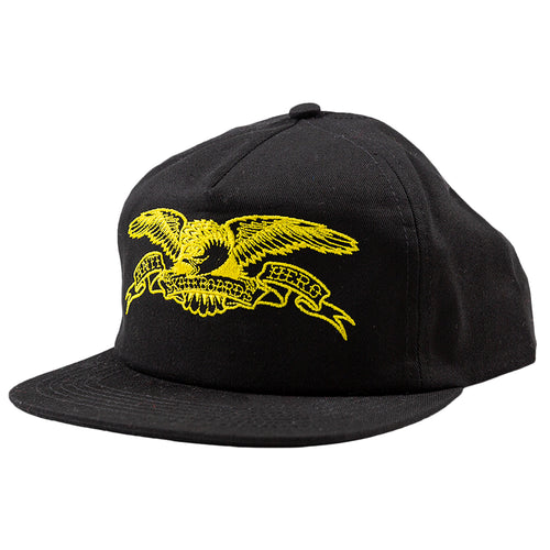 Antihero Basic Eagle Snapback - Black/ Yellow