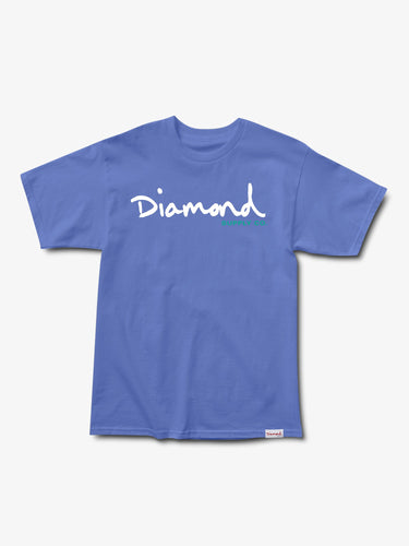 Diamond OG Script Overdyed Tee - Blue