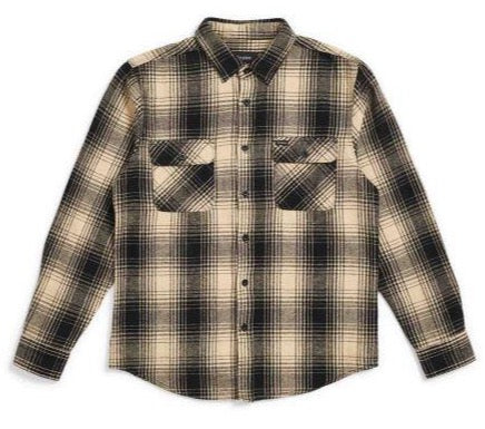 Brixton Bowery Flannel - Black/Bone