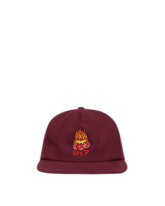 Call Me 917 Hot Dice Hat Maroon