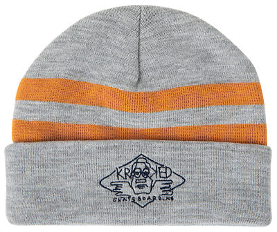 Krooked Arketype Cuff Beanie Heather Grey/Yellow