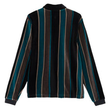 Load image into Gallery viewer, Stussy Roland Stripe LS Full Zip - Black