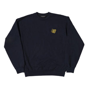 Bronze 56K Embroidered B Logo Crewneck - Navy