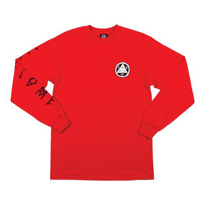 Welcome Tali-Scrawl L/S Tee - Red/Black/White