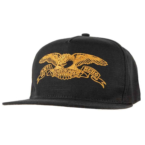 Anti Hero Basic Eagle Patch Snapback - Black/Brown