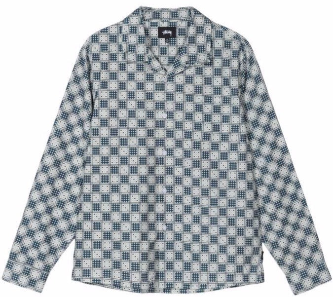 Stussy Dice Checker Shirt - Indigo
