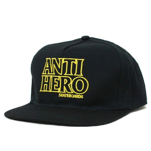 Antihero Black Hero Snapback - Black/Yellow
