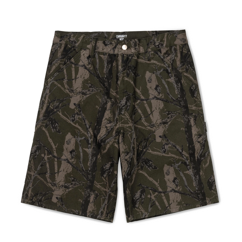 Carhartt WIP Single Knee Short - Green Tree Camo