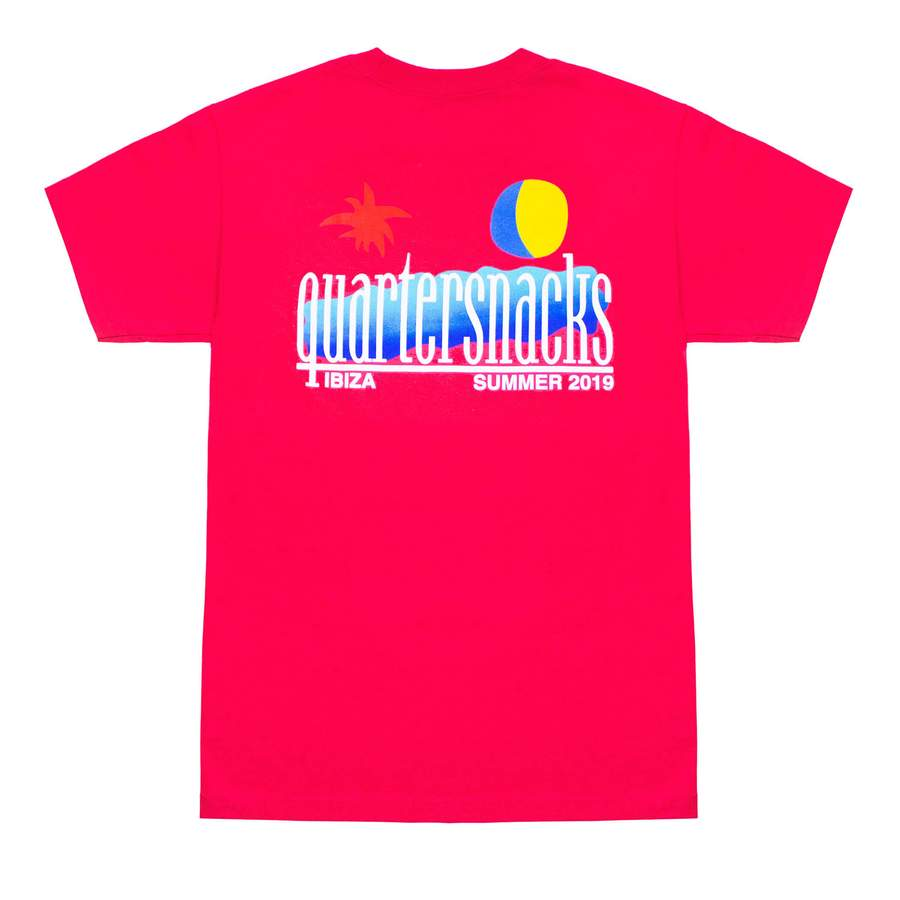Quartersnacks Summer 2019 Tee - Coral