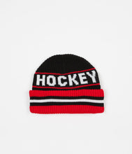 Load image into Gallery viewer, Hockey Big Beanie - Red/Black