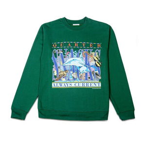 Quartersnacks Always Current Crewneck Green