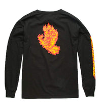 Load image into Gallery viewer, Santa Cruz Flame Hand Youth Longsleeve - Black